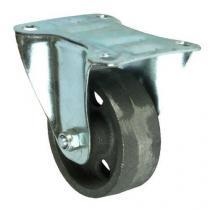 Litinové transportní kolo s přírubou, průměr 80 mm, kluzné ložisko, teplotně odolné