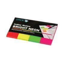 Samolepicí záložky, 4 ks, mix barev