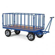 Ruční plošinový vůz se čtyřmi stěnami s mřížovou výplní, do 1 500 kg