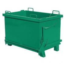 Kontejner s výklopným víkem, objem 2 000 l, zelený