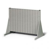Oboustranný PERFO regál, výška 78 cm, šedý