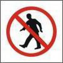 Zákazová bezpečnostní tabulka - Zákaz vstupu, plast