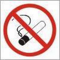 Zákazová bezpečnostní tabulka - Zákaz kouření, 92 x 92 mm, plast
