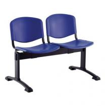 Plastová lavice Ida, dvoumístná, modrá