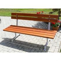 Parková lavička Rose s opěradlem