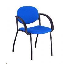 Konferenční židle Mandy Black s područkami, modrá