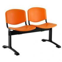 Plastová lavice Ida, dvumístná, oranžová