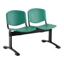 Plastová lavice Ida, dvumístná, zelená