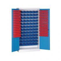 Skříň s boxy (232 ks), šedá/modrá