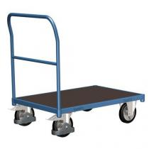 Plošinový vozík s madlem, do 1 000 kg, 100,6 x 112,8 x 70 cm