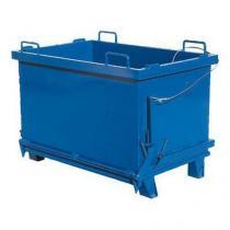 Kontejner s výklopným víkem, objem 2 000 l, modrý