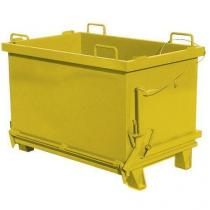 Kontejner s výklopným víkem, objem 2 000 l, žlutý