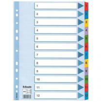 Číselný rozdružovač, 5 ks, 12 oddílů