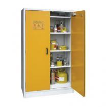 Žáruvzdorná skříň na nebezpečné látky, 1 190 x 598 x 1 935 mm, šedá/šedá