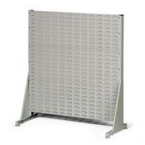 Jednostranný PERFO regál, výška 112 cm, šedý