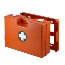 Plastový kufr první pomoci se stěnovým držákem, 33,8 x 44,3 x 14,7 cm