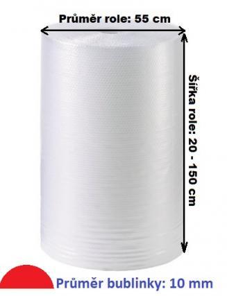 Bublinková fólie dvouvrstvá šířka 80 cm, 100 bm