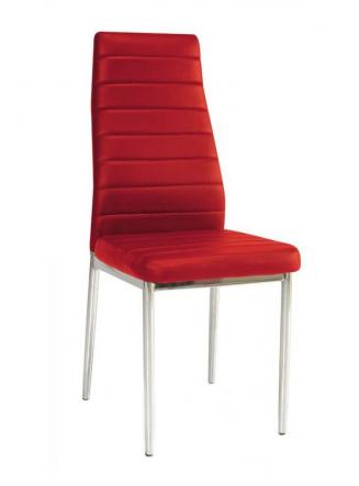 Sedia kovové Kuchyňská židle H261 červená