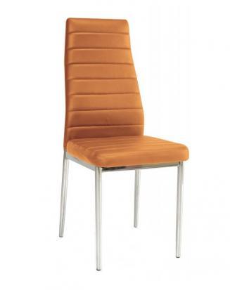 Sedia kovové Kuchyňská židle H261 oranžová