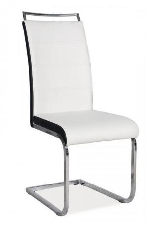 Sedia kovové Kuchyňská židle H441 bíločerná