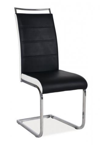 Sedia kovové Kuchyňská židle H441 černobílá
