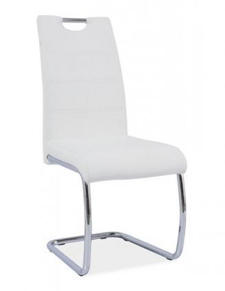 Sedia kovové Kuchyňská židle H666 bílá