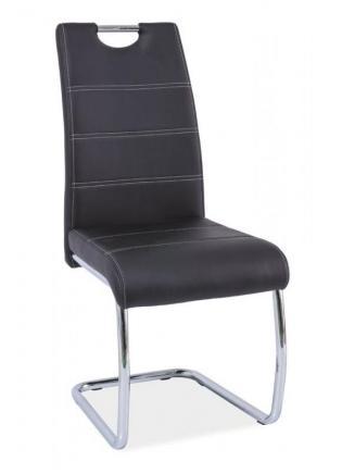 Sedia kovové Kuchyňská židle H666 černá