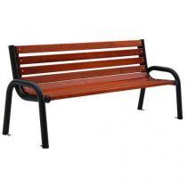Parková lavička Olymp II s opěradlem a područkami