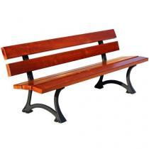 Parková lavička Antik s opěradlem