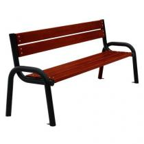 Parková lavička Olymp I s opěradlem a područkami