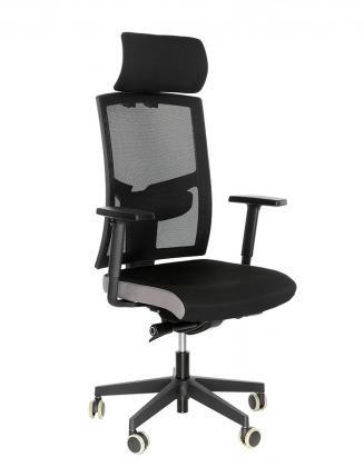 Kancelářské židle Alba Kancelářská židle Game šéf VIP Černá/šedá