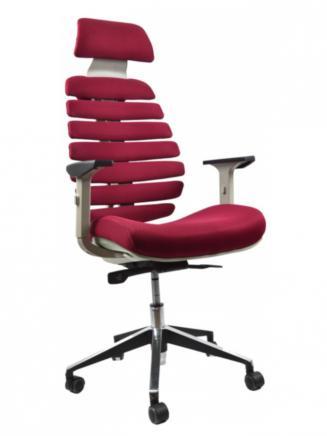 Kancelářské židle Node Kancelářská židle FISH BONES PDH šedý plast, vínová látka TW13