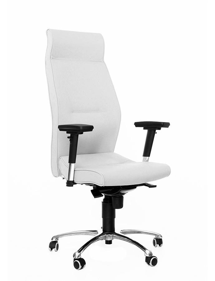 Kancelářské židle Antares - Kancelářské křeslo 1800 Lei bílá kůže