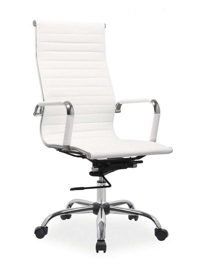 Kancelářské křeslo Sedia - Kancelářské křeslo Q040 bílá koženka