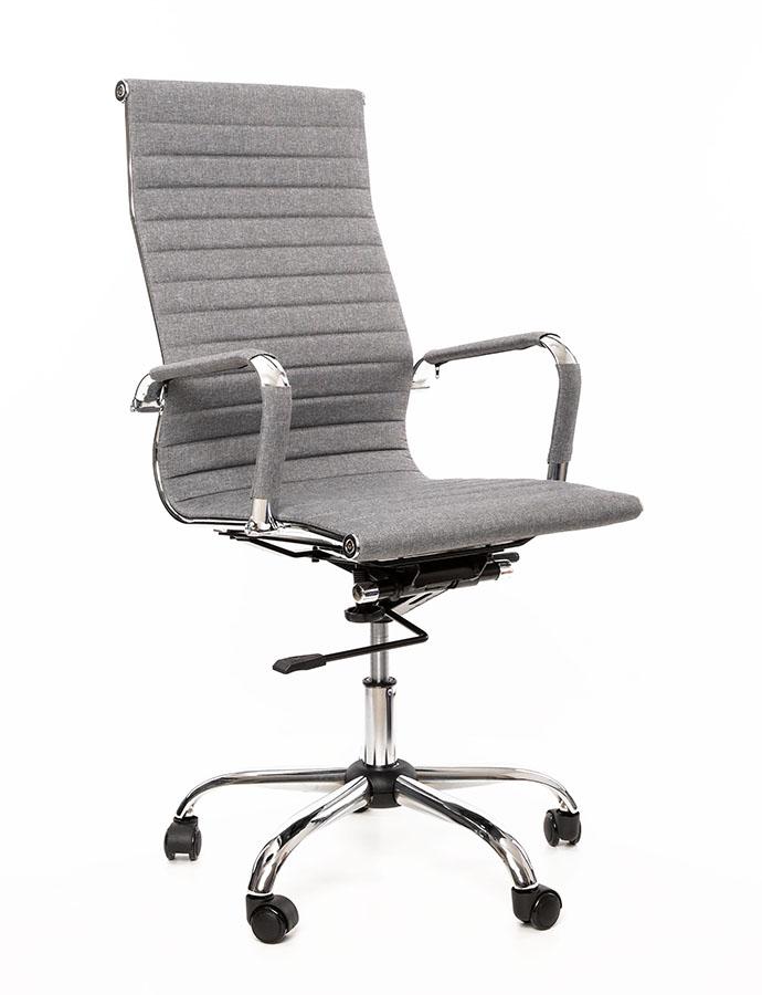 Kancelářské křeslo Sedia - Kancelářské křeslo Q040 šedá látka