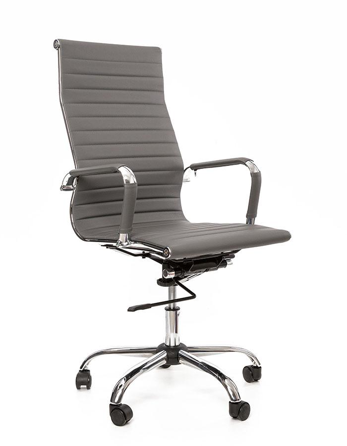 Kancelářské křeslo Sedia - Kancelářské křeslo Q040 šedá koženka