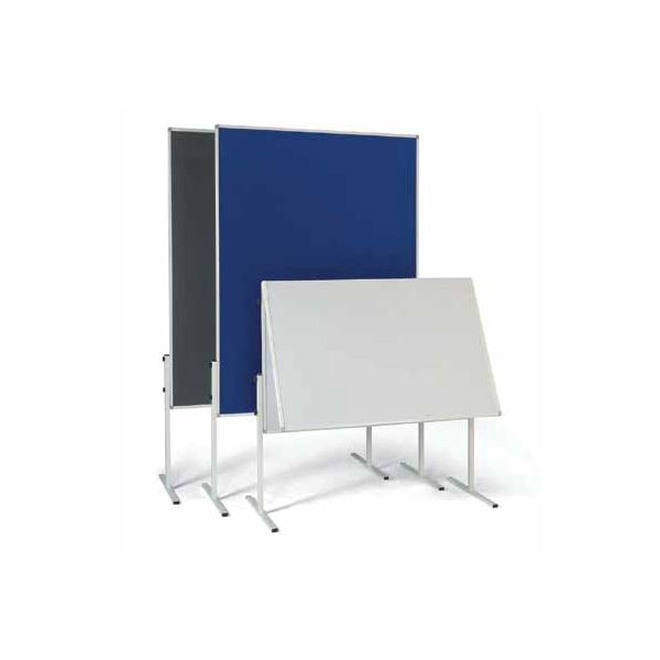 Informační a moderační tabule, textilní, modrá, sklopná