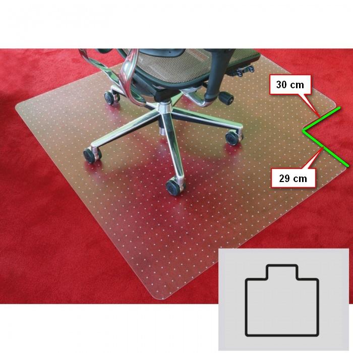 Podložka pod židli na koberce, Polykarbonát, tvar T