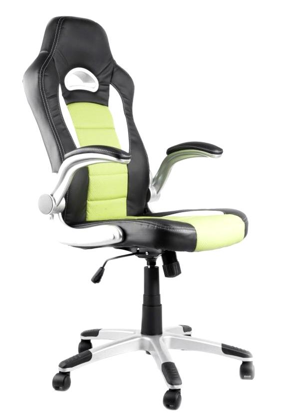 Kancelářské křeslo NODE - Kancelářské křeslo LOTUS černo-zelené