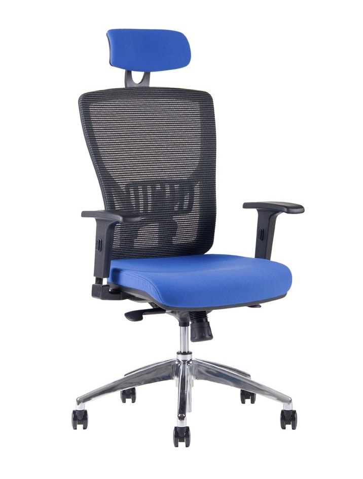 kancelárska stolička Halia MESH CHR SP - s podhlavníkem