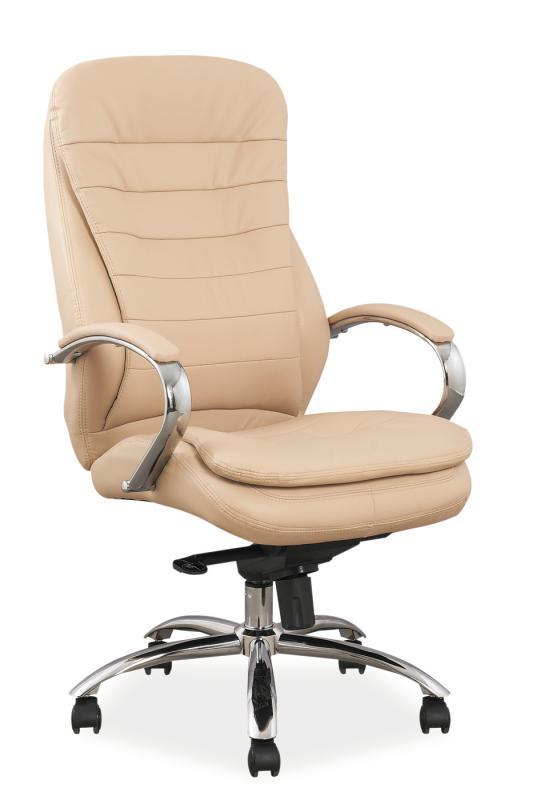 Kancelářské křeslo Sedia - Kancelářské křeslo Q154 béžová koženka