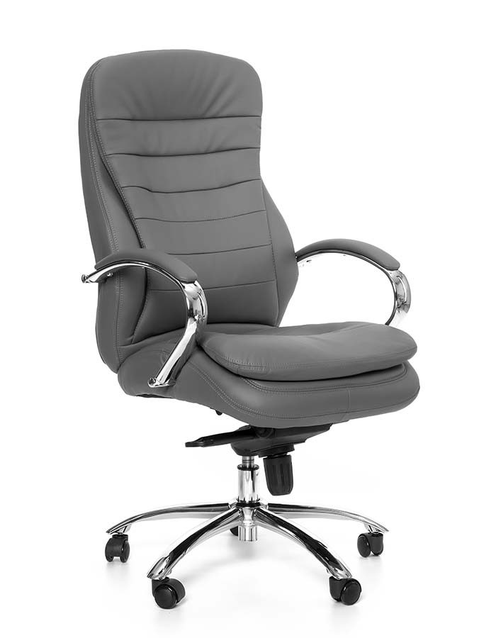 Kancelářské křeslo Sedia - Kancelářské křeslo Q154 šedá koženka