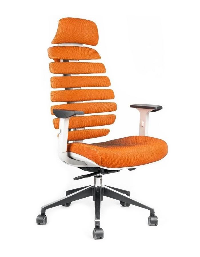 Kancelářská židle Node - Kancelářská židle FISH BONES PDH, šedý plast, oranžová SH05
