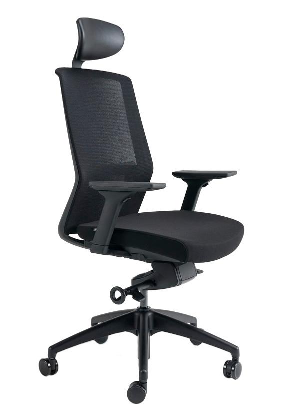 Kancelářské židle BESTUHL - Kancelářské křeslo J17 černý plast