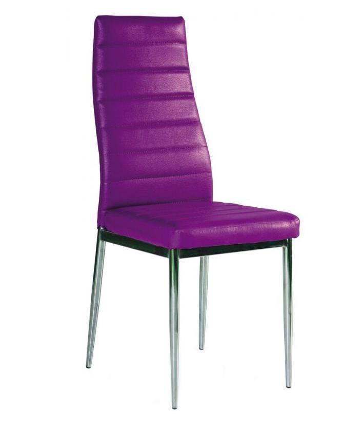 Sedia kovové - Kuchyňská židle H261 fialová