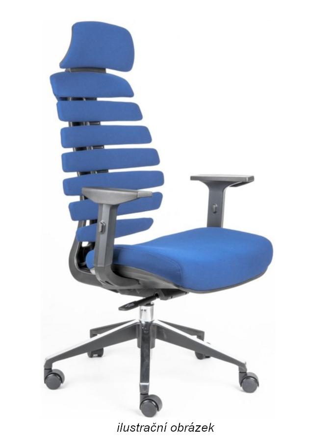 Kancelářské židle Node - Kancelářská židle FISH BONES PDH šedý plast, modrá látka 26-67