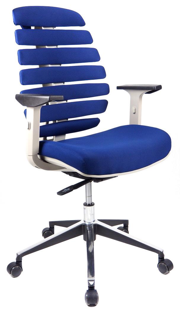 Kancelářské židle Node - Kancelářská židle FISH BONES šedý plast, modrá 26-39