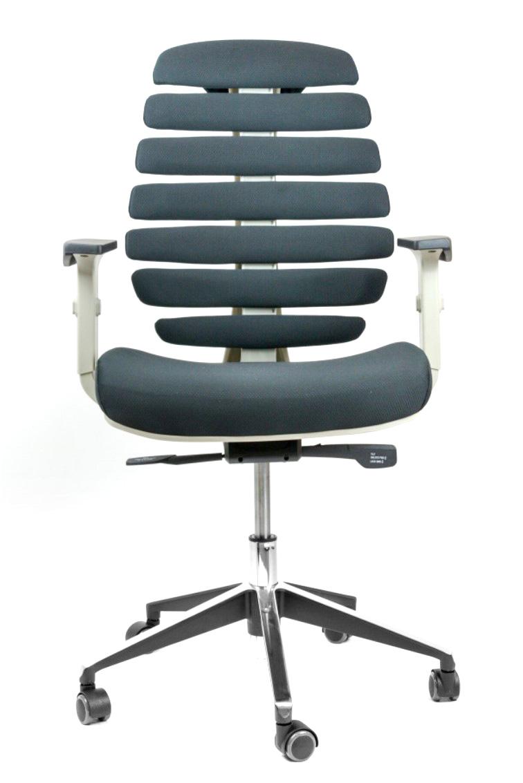 Kancelářské židle Node - Kancelářská židle FISH BONES šedý plast, černá látka 26-60