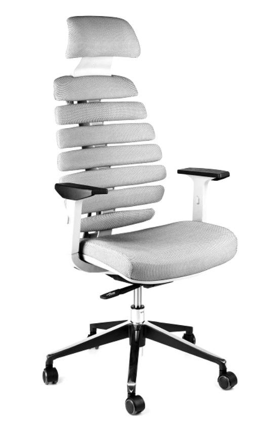 Kancelářské židle Node - Kancelářská židle FISH BONES PDH šedý plast, šedá SH04