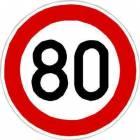 Dopravní značka Nejvyšší povolená rychlost (B20a)